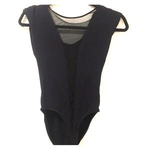 American apparel mesh front body suit